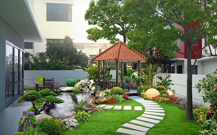 Thiết kế sân vườn tại vinh nghệ an