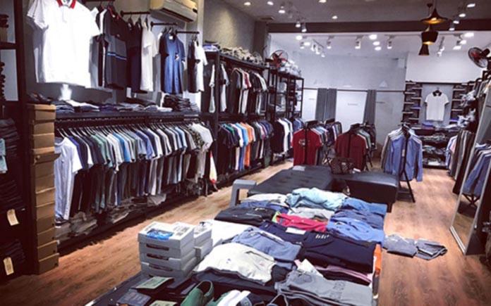 Shop quần áo nam tại Vinh