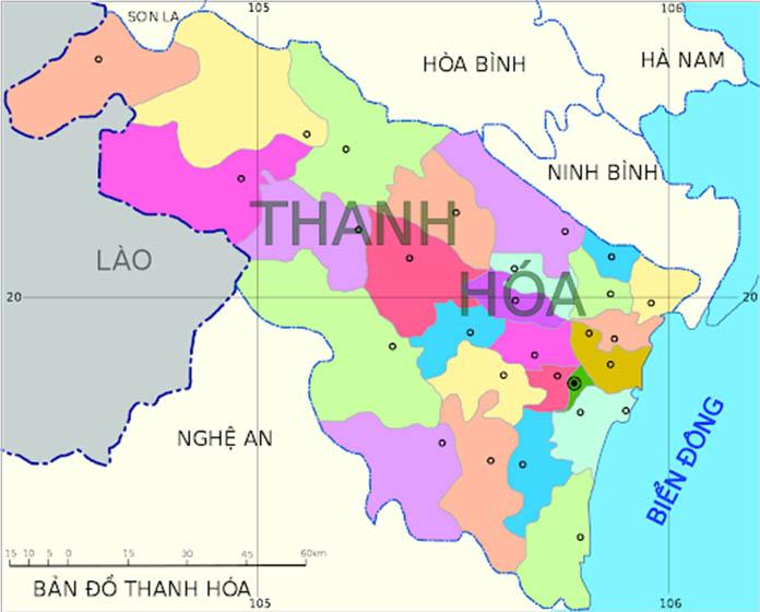 Bản đồ Thanh Hóa