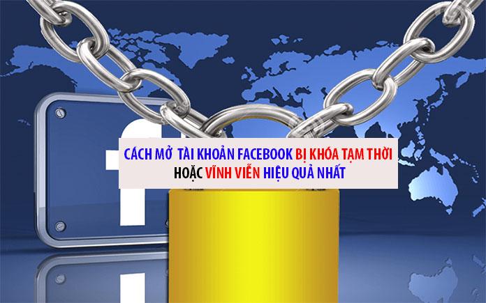 Cách mở khóa tài khoản facebook